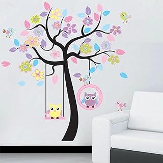 DIY Owl Bird Tree Wall Sticker Home Decor Room for Kids Living Room Decals Children Baby Nursery Decorative Wallpapers Sti...