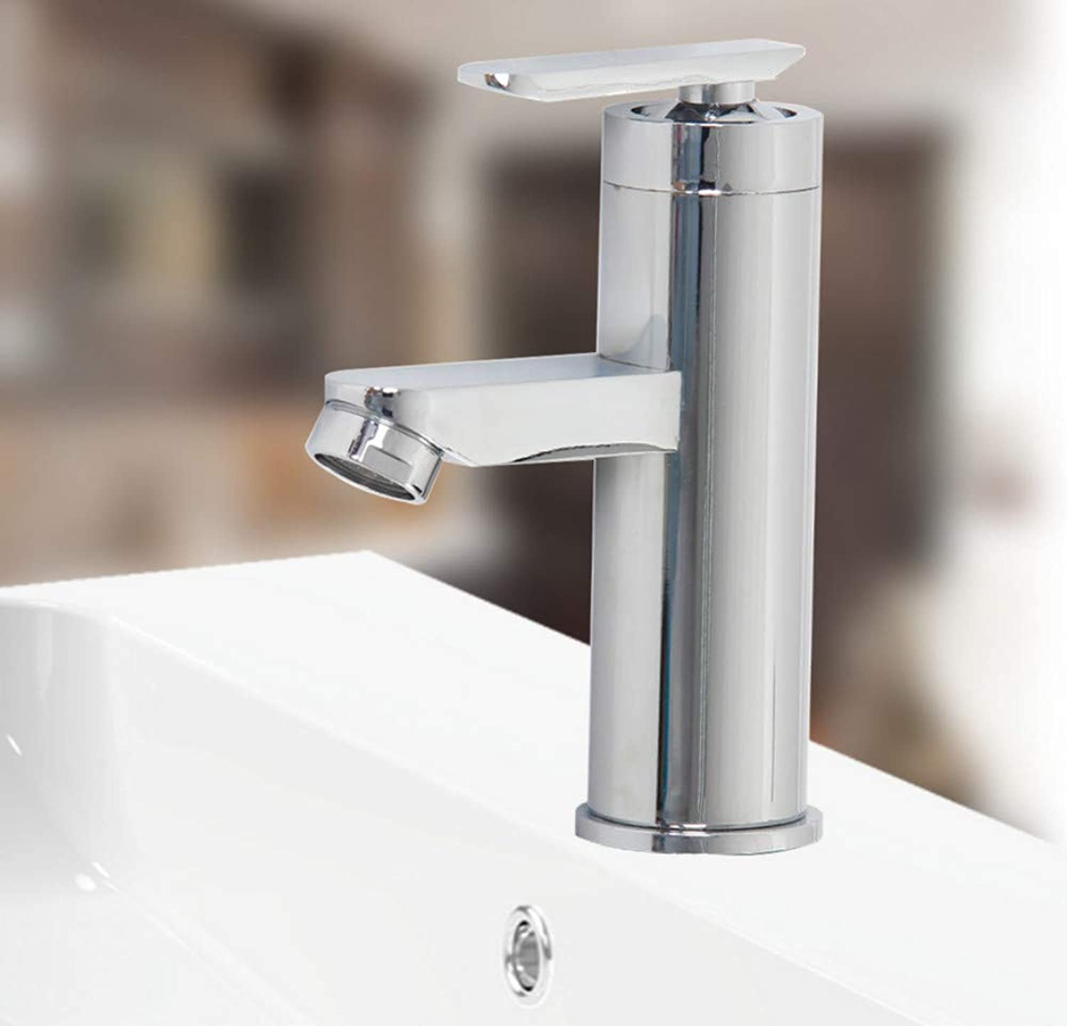 Basin Faucet Bathroom Faucet Sink Water Faucet Deck Mounted Hot and Cold Water Mix Faucets Home Kitchen Single Handle Wash Tap
