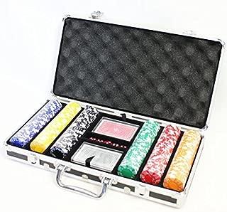 【訳あり】ポーカーチップ300枚セット黒ケース【JUEKO】PC-8149ケースにキズがあります