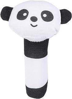 Cartoon Stuffed Animal Toys Baby Soft Hand Rattle Toys Infant Dolls for Newborn Toddlers (Panda)