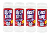 Kleen King Aluminum Cleaner and Brightener (14 oz, 4 Pack) Helps Remove Stains and Tarnish from Pots and Pans, Multi-Purpose Cleaner, Stain Remover Cleaning Powder
