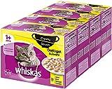 Whiskas 1 + Creamy Soups Katzenfutter –Geflügelauswahl, 4erPack (4 x 12 x 85g)