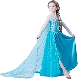frozen elsa blue dress costume for girls