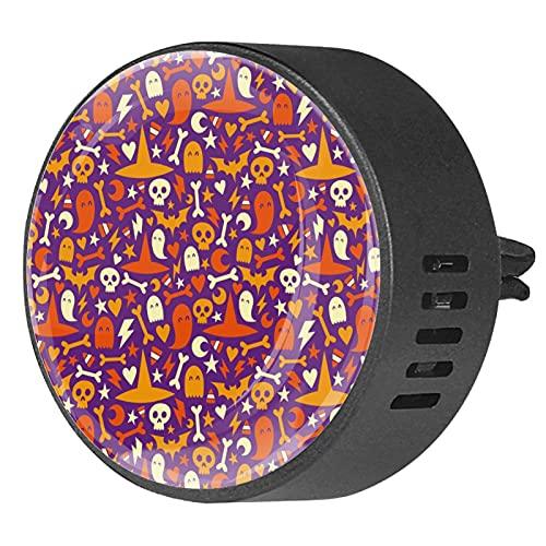 BestIdeas 2 clips de ventilación ambientador de coche con iconos de calavera y fantasmas, difusor de aceites esenciales de aromaterapia