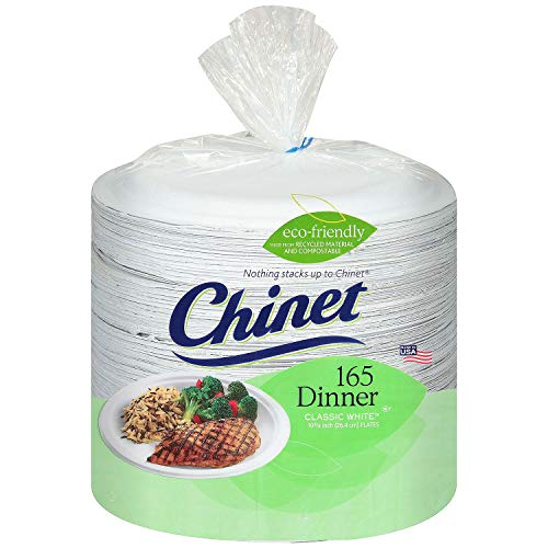 """An Item of Chinet Classic White 10-3/8"""" Dinner Plates (165 ct.) - Pack of 1 - Bulk Disc"""