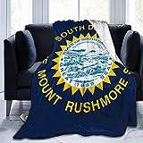 Manta de forro polar mullido de Throw North Dakota State Fit para sofá cama, manta súper cálida para sofá de 80 x 60 pulgadas