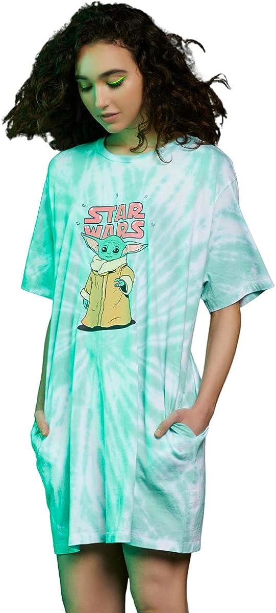 Her Universe Star Wars The Mandalorian The Child Tie-Dye T-Shirt Dress