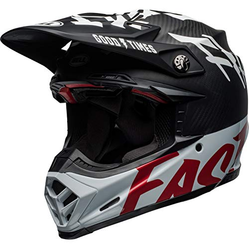 BELL Helm Moto-9 Flex Fasthouse Wrwf matt schwarz/rot Größe M