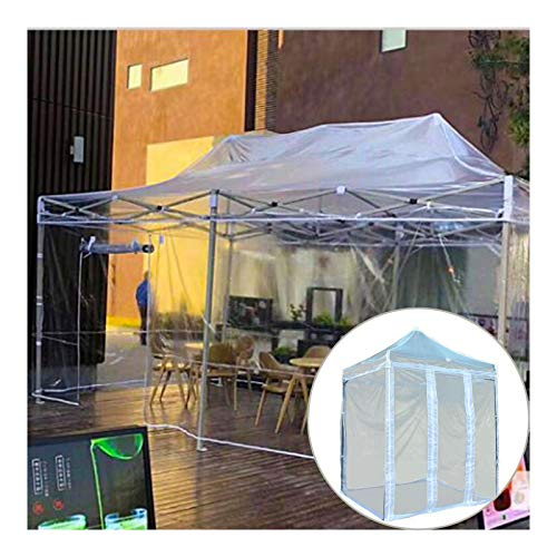 GDMING Pop Up Gazebo With 4 Sides And High-strength Steel Frame, Transparent Waterproof Heavy Duty Weather Resistant Canopy Tent, Outdoor Parasol, 6 Sizes (Color : Clear, Size : 2.5x2.5m)