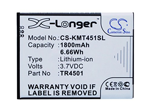 CS - Batería de ion de litio para Archos/KAZAM AC50TI4G, TR4501, TR4501-CHHCD0006517 (1800 mAh, sustituye a Archos/KAZAM 50 Titanium 4G,A50 Titanium 4G)