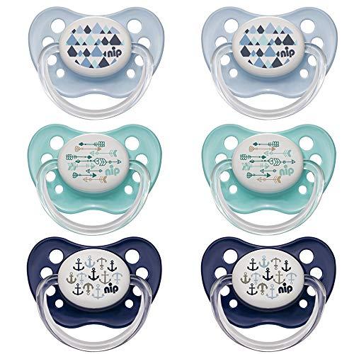 NIP Spar-Set Silikon Schnuller UNIQUE Gr 3. (18-32 Mo.) 6er Pack BPA frei made in Germany
