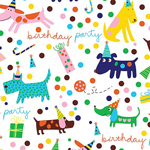 Barkday Birthday Gift Wrapping Paper Roll 24' X 15'
