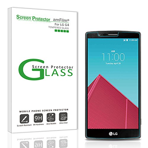 amFilm Glass Screen Protector for LG G4 Tempered Glass