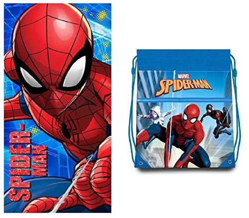 Spiderman Toalla - Bolsa de Playa Spiderman Marvel