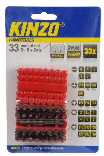 Kinzo Schraubendreher 72042 Endkappen, Magnetisch, 33, Chrom Vanadium