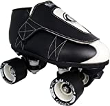 VNLA Junior Tuxedo Jam Skates - Outdoor and Indoor Unisex Roller Skates for Tricks and Rhythm Skating - Black/White (Men 9 / Women 10)