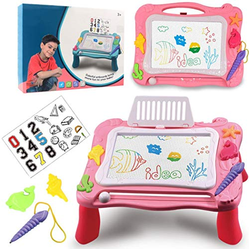 Best Review Of Dongdongole Portable Multifunctional Magnetic Children Drawing Board Table Writing Bo...