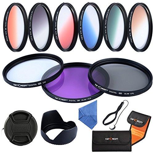 K&F Concept Objektiv Filterset UV CPL FLD Filter Set,Objektiv Filterset 62mm,Verlaufsfilter Schutzfilter Set für Nikon Canon