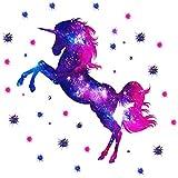 Vinilo Decorativo para Pared con Diseño de Unicornio, Adhesivo de Pared para Habitación Infantil, Papel Tapiz Extraíble, Decoración para Sala de Estar, Dormitorio en casa, Habitación Infantil