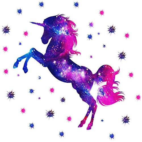 Vinilo Decorativo para Pared con Diseño de Unicornio, Adhesivo de Pared para...