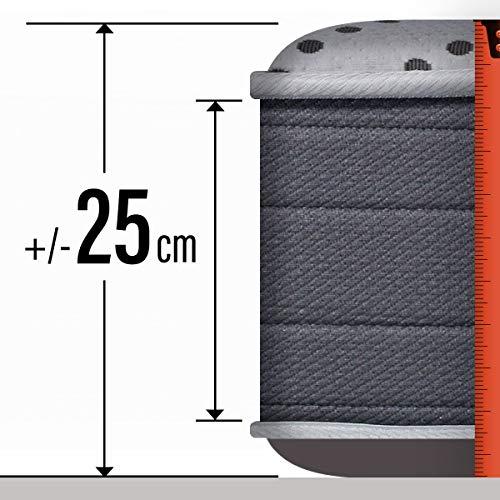 PIKOLIN Colchón viscoelástico HR 90x190 firmeza Alta, Reversible, máxima Calidad, Alto 25 cm - Colchones Iliria