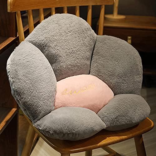 Xue Mei Zi Cojín de algodón para silla de ciática coxis, cojín de apoyo lumbar, almohadilla de escritorio con correa ajustable, lavable para silla de oficina o coche (color rosa
