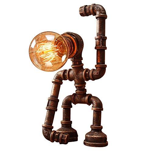 Pointhx Kreative Persönlichkeit Roboter Schlauch Tischlampe Retro Nostalgische Eisen Art Desktop Leuchte Bar Geburtstag Geschenk Dekorative Schreibtisch Licht Nacht Laterne