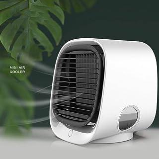 WZF Mini Enfriador Evaporativo Compacto, Pequeño Enfriador de Aire USB de Bajo Ruido, Ventilador de Aire Acondicionado Personal Ventilador de Enfriamiento de Aire Blanco