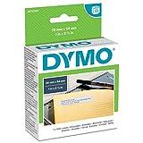 Dymo LW Etichette di Ritorno Grandi, Autoadesive, per Etichettatrici LabelWriter, Originali, 1 Rotolo da 500 Etichette Facilmente Staccabili, 25 mm x 54 mm