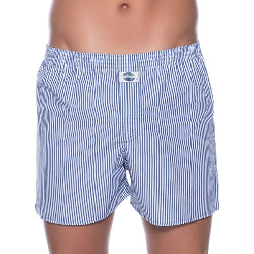 D.E.A.L International boxershorts blauw en wit gestreept