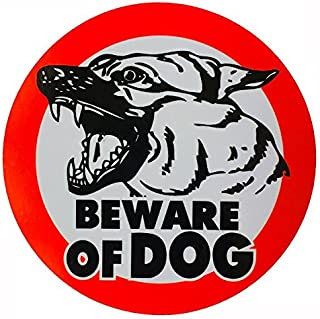OTA STICKER Beware of Dog German Shepherd Sign Symbol Picture LOGO Warning Alert Security Safety for CAR Fence Wall Window Bumper Laptop Home House Garden