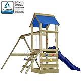 vidaXL Aire de Jeux avec échelle, Toboggan et balançoires en Bois