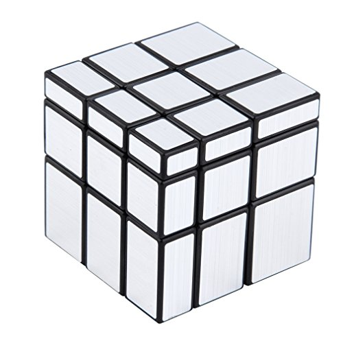 aixu 3 X 3 X 3 Cubo Mágico Puzzle Regla Espejo Juego De Inteligencia Juguete para Niños Plateado