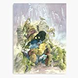 Vivi Friends Rain Chocobo Game Sleep Family Mam Canvas Wall Art Printed Modern to Decoration for Living Room, Bedroom, Kitchen, Office, Hotel, Dining Room, Office, Bathroom, Bar Etc