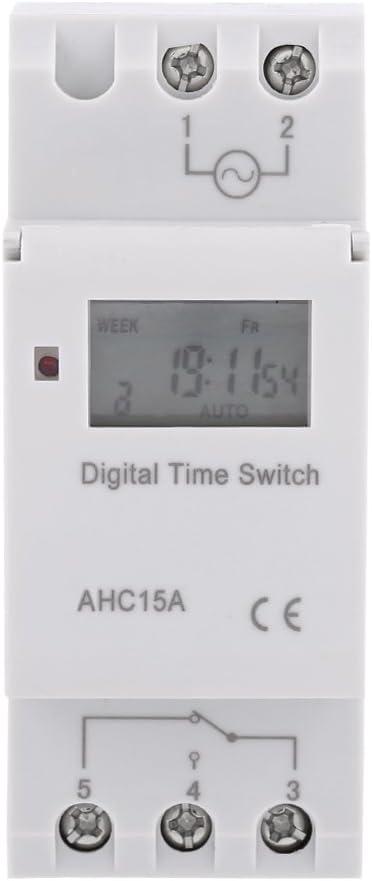 110V English Timer settimanale programmabile su Guida DIN per elettrodomestici per elettrodomestici Timer Sutinna Timer programmabile