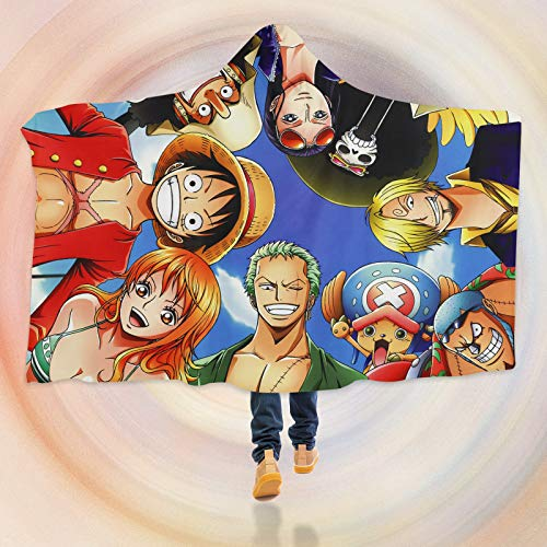 AJ WALLPAPER 3D One Piece B308 Manta con Capucha Capa Anime Japonés Japonés Cosplay Juego ES Moon (S:150x110cm(59