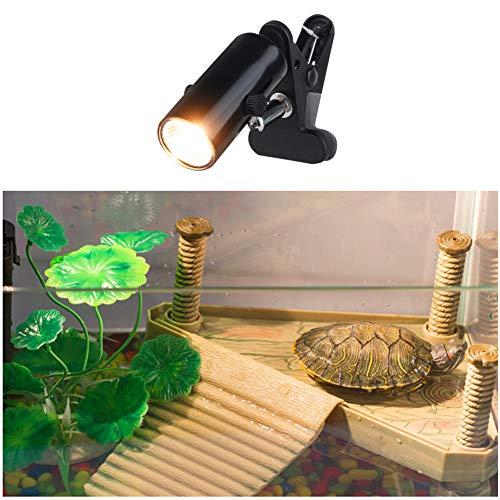 Phayee Lámpara de Tortuga, lámpara de Tortuga de Acuario iluminación de Acuario 50W con Base Rotación Larga de 360 ° para Reptiles y Anfibios