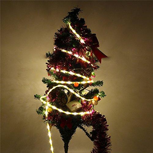 Luz de tira accionada solar impermeable de los 5M SMD2835 LED for la decoración al aire libre DC12V del jardín de la Navidad ILFYJRHD (Color : Color Warm White)