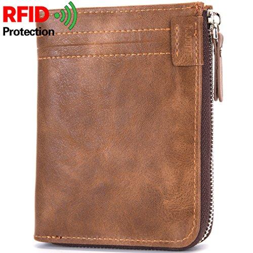 Herren Brieftasche Neue Null Brieftasche Kurze Brieftasche Herren Tasche Retro Anti-RFID Brieftasche currygericht