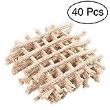 moinkerin 40 Stücke Docht für Öllampen Kerzendochte Lampendocht Runddocht Ersatzdochte für Gartenfackel Bambusfackel Fackel 15 cm