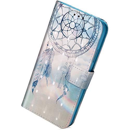 Herbests Hülle Kompatibel mit Sony Xperia L2 Handytasche Wallet Handyhülle Tasche Glänzend Bling Glitzer Lederhülle Leder Tasche Klapphülle Flip Hülle Cover,Totenkopf Rose