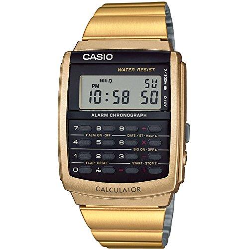 Casio Reloj Digital para Hombre de Cuarzo con Correa en Acero Inoxidable CA-506G-9AEF