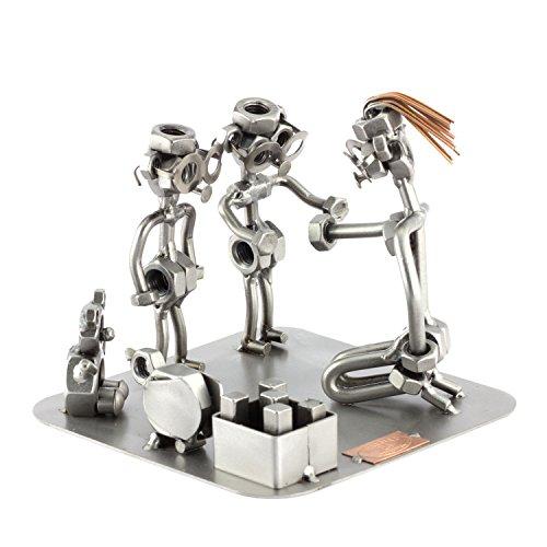 Steelman24 I Schraubenmännchen Erzieherin I Made in Germany I Handarbeit I Geschenkidee I Stahlfigur I Metallfigur I Metallmännchen