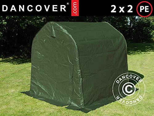 Dancover Lagerzelt Zeltgarage PRO Lagehalle 2x2x2m PE, Grün