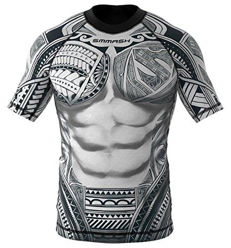 SMMASH Rashguard Maori Camiseta de Manga Corta para Hombre para MMA, UFC, BJJ (M)