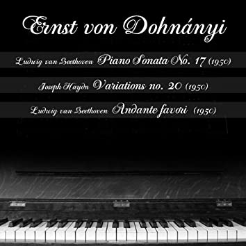 Ludwig van Beethoven  - Piano Sonata No. 17 (1950), Joseph Haydn - Variations no. 20 in F Minor (1950), Ludwig van Beethoven  - Andante favori (1950)