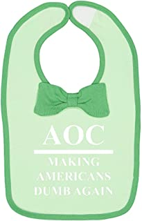 Mashed Clothing AOC Making Americans Dumb Again Political Republican Baby Cotton Bow Tie Baby Bib