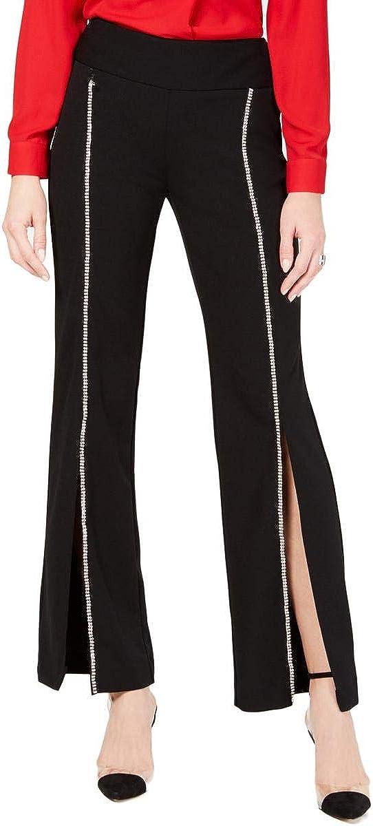 I-N-C Womens Rhinestone Casual Wide Leg Pants