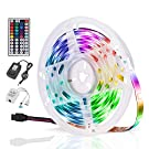 LED Strip Lights,16.4ft RGB Color Changing LED Light Strips,Dimmable LED Strip,Waterproof Flexible Strip Lights,with 44 Key Remote Controller and 12V Power Supply Tape Light for Bedroom Home Bar Party