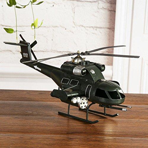Decoración Hogareña Modelo De Helicóptero Arte De Hierro Ventana Tecnología Area Escenica Turismo Recuerdo Tamaño (Largo 45Cm * Ancho 19Cm * Alto 21Cm)